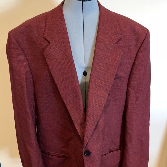 ungaro suits blazers red sports coat blazer houndstooth 44r
